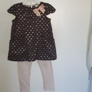 Shift top with leggings 24 mos girls